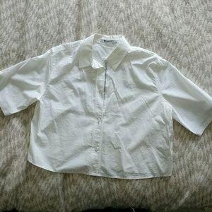 Cropped Alexamder Wang cropped cotton blouse